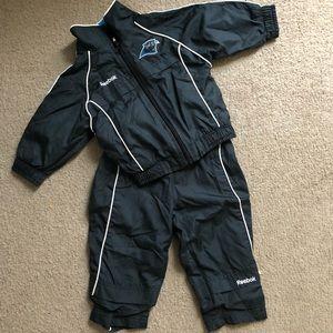 Carolina Panthers infant tracksuit jacket pants